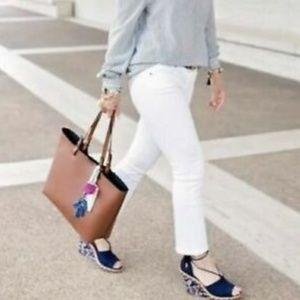 CAbi Style 5172 Kick It Crop White Jeans